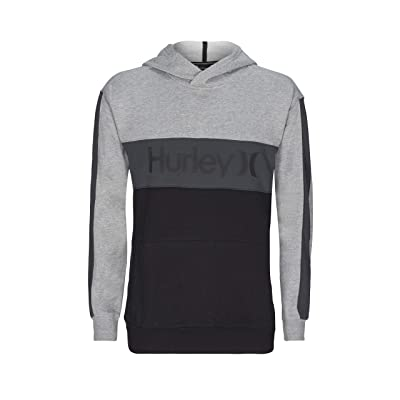 Hurley Blocked Pullover Fleece (Dark Smoke Grey) Men