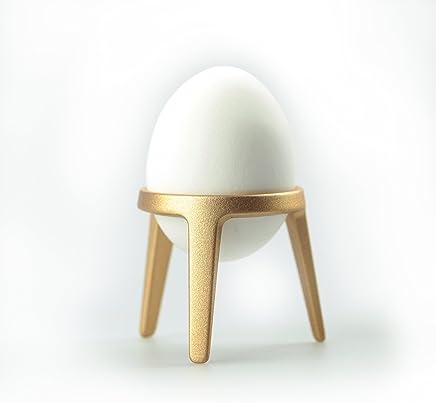 Preisvergleich für Brainstream Rocket Eierbecher aus Metall, lose, Eierhalter, Gold, A004481