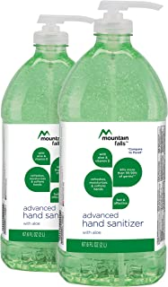 Mountain Falls Advanced Hand Sanitizer with Vitamin E and Aloe, Pump Bottle, 67.59 Fluid Ounce (Pack of 2)