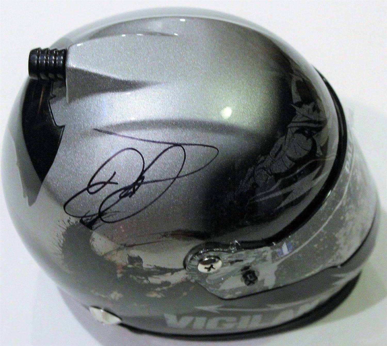 Dale Earnhardt Jr. Signed Mini Racing Drivers Helmet w COA Proof Junior Batman A  Autographed NASCAR Helmets
