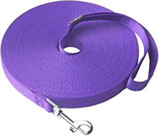 Siumouhoi Dog/Puppy Obedience Recall Training Agility Lead-15 ft 20 ft 30 ft 40 ft 50 ft Long Leash -for Training Leash, Play, Safety, Camping,or Backyard