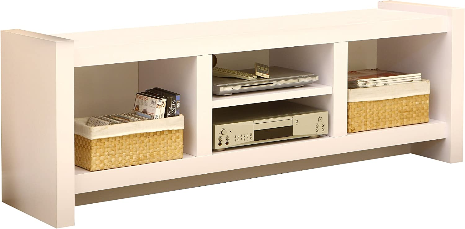 Furniture of America Enitial Lab Myra TV Cabinet, 60-Inch, White