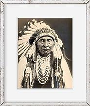 INFINITE PHOTOGRAPHS Photo: Joseph-Nez Perce Chief, Indian, November 28, c1903, Edward S Curtis, warbonnet