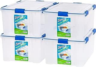Ziploc WeatherShield 60 Quart Storage Box, 4 Pack, Clear