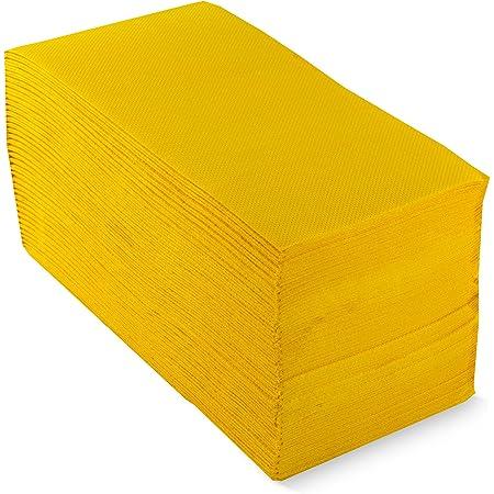 Morigami Servilleta 30x40, 2 capas, pliegue 1/6, 100 servilletas, punta-punta, Amarillo