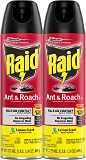Raid Ant & Roach Killer Lemon Scent, 17.5 OZ (Pack - 2)