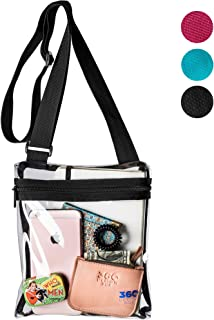 ca957833cc 360 DESIGN BOX Clear Cross-Body Messenger Shoulder Bag, PGA, NCAA & NFL