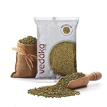 Amazon Brand - Vedaka Premium Green Moong Whole / Sabut, 1 kg
