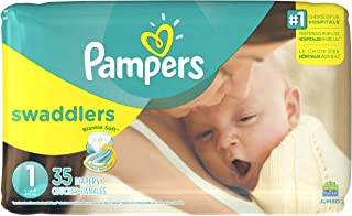 Pampers Swaddlers Disposable Diapers Newborn Size 1 (8-14 lb), 35 Count, JUMBO