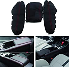 Vkinman Center Console Armrest Lid Cover for Honda Civic 2016-2018, PU Leather Center Console Armrest Pad Covers