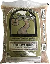 Red Lava Rock Mixed Sizes 100 Percent Natural for Gas Pits, Fireplaces Fire Tables & Fireplace Log Sets, 15 Pound Bag, Bes...
