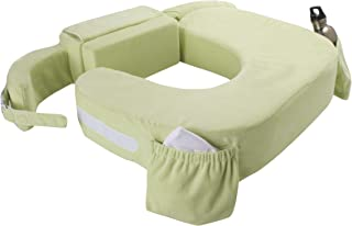My Brest Friend Twin Nursing Pillow Deluxe Slipcover – Machine Washable Breastfeeding Cushion Cover - Pillow not Included, Green