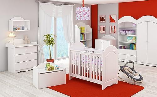 Garantía 100% de ajuste Babybett Kinderbett Clasic Baby blanco 120 x 60 cm cm cm  envío rápido en todo el mundo