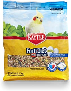 Kaytee Forti Diet Egg-Cite Bird Food For Cockatiels, 5-Pound Bag