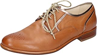 TRIVER FLIGHT Oxfords Womens Leather Brown