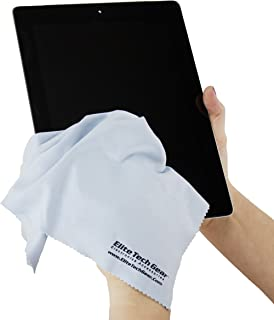 Elite Tech Gear - 4 Blue OVERSIZED Microfiber Cloths, The Most Amazing Microfiber Cleaning Cloths - Perfect For Cleaning All Electronic Device Screens, Eyeglasses & Delicate Surfaces 12