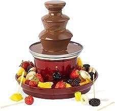 GILES & POSNER Fontaine à Chocolat avec Prise européenne EK3428GVDEEU7   Plateau de Fruits et 100brochettes en Bambou Inclus