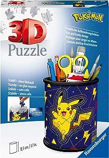 Ravensburger 3D Puzzle 11257 - Utensilo Pokémon Pikachu - 54 Teile - Stiftehalter für Pokémon Fans ab 6 Jahren, Schreibtis...