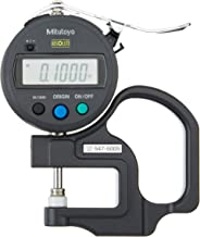 Mitutoyo 547-500S Digital Thickness Gauge with Flat Anvil, Standard ID-S Type, Inch/Metric 0-0.47