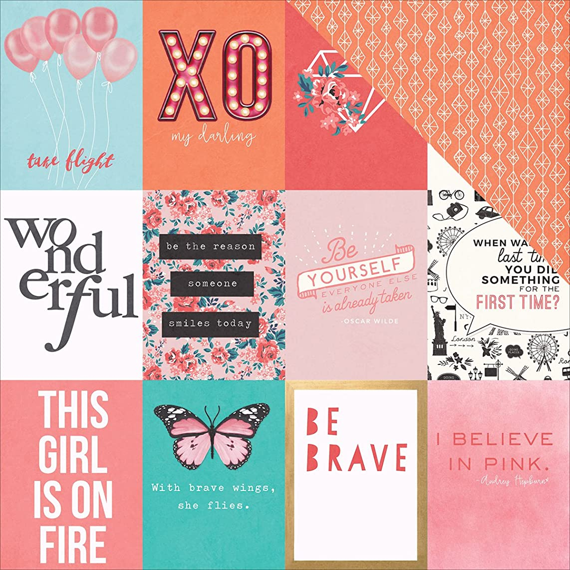 Photo Play Paper LG2030 25 Sheet Be Yourself Like a Girl Double-Sided Cardstock, 12