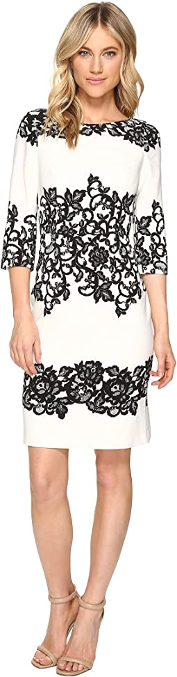 Fitted Placed Printed Lace