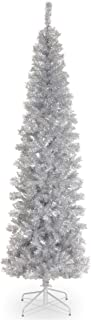 National Tree 6 Foot Silver Tinsel Tree with Metal Stand (TT33-700-60)