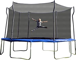 Kinetic Trampolines K14D-BE Trampoline with Enclosure, Blue, 14-Feet