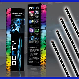 OCPTY 10Pack 30CM RGB Motorcycle LED Strip Light 15-SMD Green Accent Glow Neon Lights Lamp Waterproof Turn Signal Light Replacement fit for Pickup SUV Jeeps RV Dodge Ram Toyota Chevy GMC