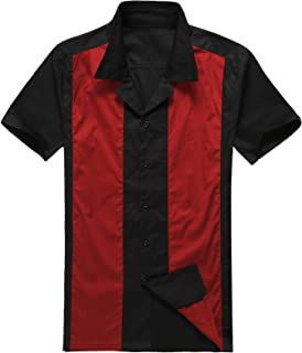American Style Vintage Western Hip Hop Cowboy Shirts Black Red Men's Party Wear