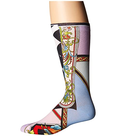 Versace calcetines dos Graphic caras multicolor Print rUqxwCrAa