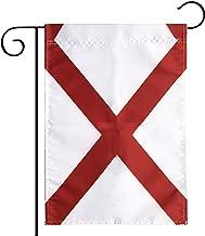 Garden Flag Alabama State Garden Flag,Garden Decoration Flag,Indoor and Outdoor Flags,Celebration Parade Flags,Alabama State Party Event Decorations,Double-Sided.