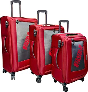 Excellent India Luggage Bag  Trolley Luggage Bags  Fiery Red  Big: 78 cms  Medium: 66cms   Small: 56cms  Set of 3 Bags  2 ...