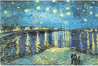 3000 Piece Jigsaw Puzzle - Starry Night Over The Rhone by Van Gogh Jigsaw Puzzle for Kids Adult Reduced Pressure Toy Gift - Learning and Education Toys Gift 3000 Piece