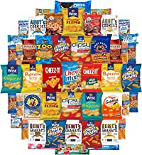 Variety Fun Care Package (50 Count) - Ultimate Snacks Sampler - Bulk Cookies, Chips, Crackers, Candy, Mixed Bars Variety Pack - Friends & Family, Military, College Food Box