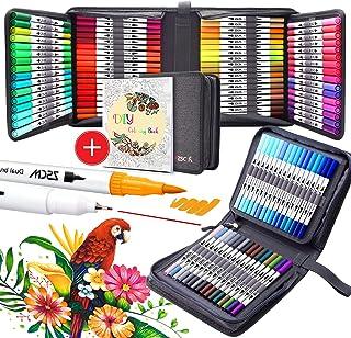 أقلام أقلام أقلام تحديد ذات 100 لون، أقلام تلوين ملونة بألوان مائية من ZSCM أقلام التحديد الرفيعة أقلام التحديد الرفيعة لل...