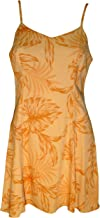 product image for Paradise Found Womens Monstera Palm Princess Seam Mini Sundress in Orange Mango - M