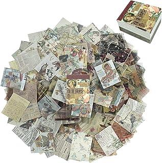 KRUCE 400 PC Papier Scrapbooking Vintage Set,Souvenirs Rétro du Passé Autocollants, Journal, Artisanat, Papier pour Artisa...