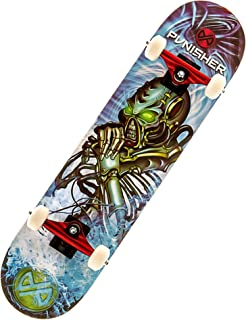 Punisher Skateboards Alien Rage Complete Skateboard with Concave Deck,  Blue,  31-Inch