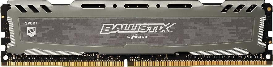 Crucial Ballistix Sport LT 2666 MHz DDR4 DRAM Desktop Gaming Memory Single 8GB CL16 BLS8G4D26BFSBK (Gray)