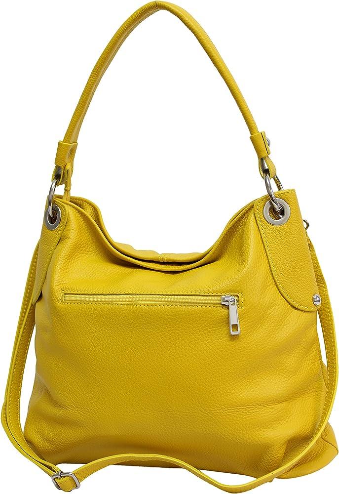 Ambra moda borsa da donna a spalla/tracolla in vera pelle GL012B