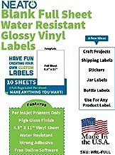 Printable Glossy Vinyl Sticker Paper - 8.5