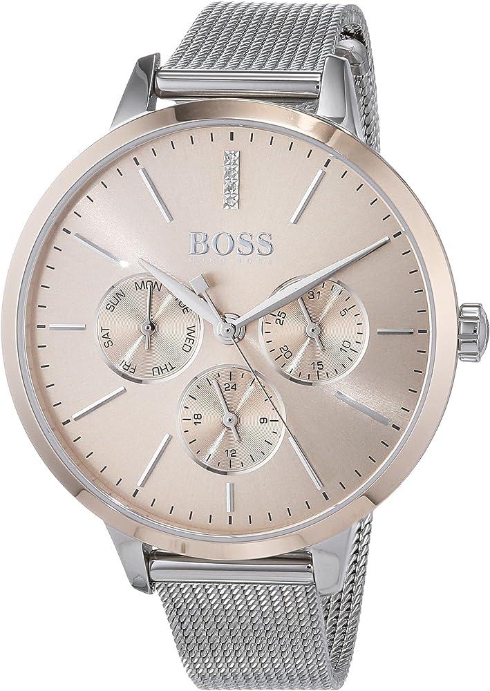 Hugo boss,orologio multi-quadrante per donna,in acciaio inossidabile 1502423