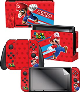 """Controller Gear Nintendo Switch Skin & Screen Protector Set, Officially Licensed By Nintendo - Super Mario Evergreen """"Supe..."""