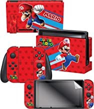 "Controller Gear Nintendo Switch Skin & Screen Protector Set, Officially Licensed By Nintendo - Super Mario Evergreen ""Supe..."