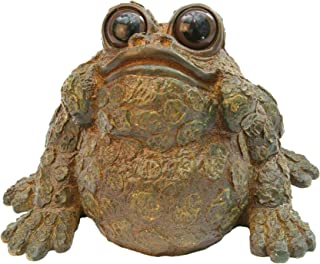 Ralph XL Mossy Brown Statue by Michael Carr Designs - Outdoor Frog Figurine for Gardens, patios and lawns (50582B)