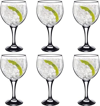 Rink Drink Spanish Gin & Tonic Cocktail Glasses - 645ml (22.7oz) Pack of 6 Copa Balloon Glasses