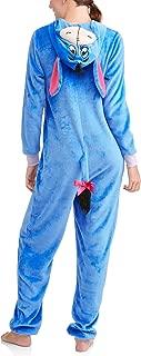 Women's Faux Fur Licensed Sleepwear Adult Costume Union Suit Pajama (XS-3X) Eeyore XXXL