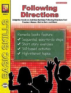 FOLLOWING DIRECTIONS (GRADES K-1) (Basic Skills Series)