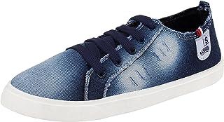 CAMFOOT Women Laceup Casual Wear Sneakers/Trendy Shoes (4 UK, Blue)