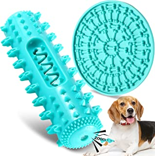 FiGoal Jagged Dog Chew Toy with Sound and Snack Pad (Blue) Toy with Sound and Snack Pad Interactive Dog Toys Indestructibl...